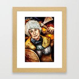 """""""Picture it: Sicily 1061"""" Golden Girls- Bea Arthur Framed Art Print"""