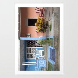 Cuban Porches Art Print