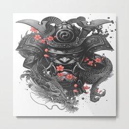 Sleeve tattoo Samurai Irezumi Metal Print