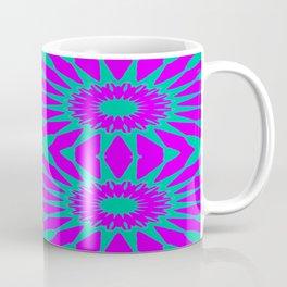 Purple & Teal Pinwheel Flowers Coffee Mug