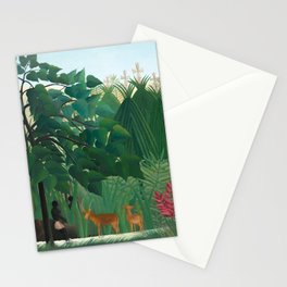 Henri Rousseau, The Waterfall - Tropical Art Stationery Cards