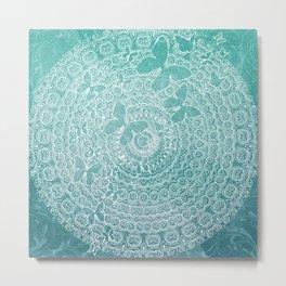 Wonderland Mandala Metal Print