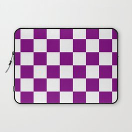 Diamonds - White and Purple Violet Laptop Sleeve
