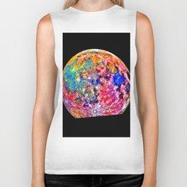 Colorful Moon Surface Biker Tank