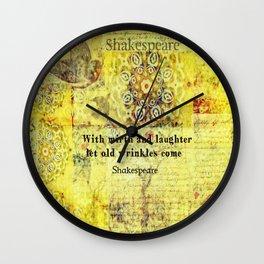 Shakespeare humorous quote  Wall Clock