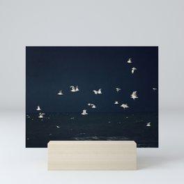 Sea - Evening Flight Mini Art Print