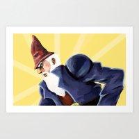 jojo Art Prints featuring Jojo Gnome by derpidew