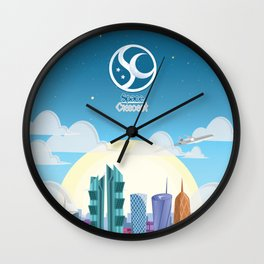 Space Up Wall Clock