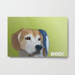 Woof. Metal Print