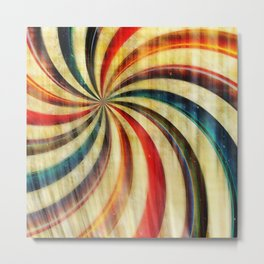 Wild Twirl Abstract Metal Print