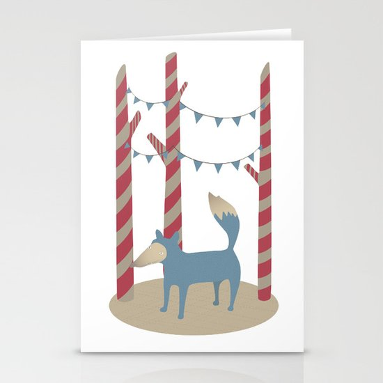 Blue Wolf Stationery Cards