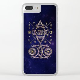 Alchemy Sacred Geometry Ornament Clear iPhone Case