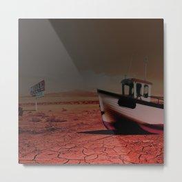 Deseert Boat Metal Print