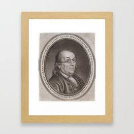 Vintage Portrait of Ben Franklin (1787) Framed Art Print