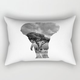 The Elephants in the Nature of Africa Rectangular Pillow