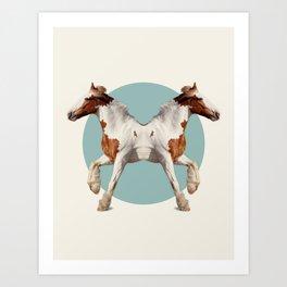 Double Animals: Horses Art Print