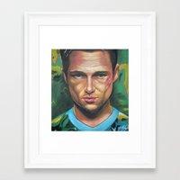 tyler durden Framed Art Prints featuring FIGHT CLUB - TYLER DURDEN by John McGlynn
