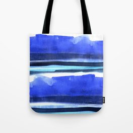 Wave Stripes Abstract Seascape Tote Bag