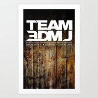 TEAM 3DMJ WHITE Art Print