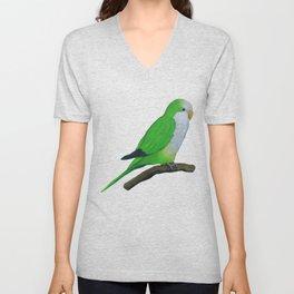 Cuddly quaker parrot Unisex V-Neck