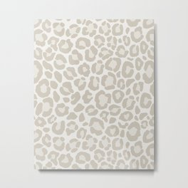 Cream Leopard Metal Print