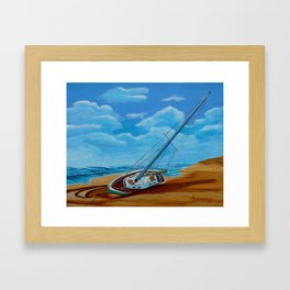 Blown Ashore Framed Art Print