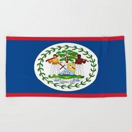 flag of belize-Belice, Belizean,Belize City,beliceno,Belmopan Beach Towel