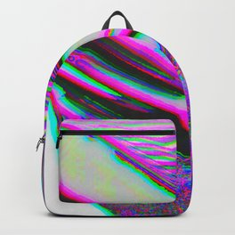 Trippy Pink Glitch Party Backpack