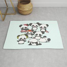Kawaii Panda Doodle Rug