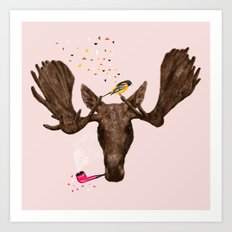 Moose II Art Print