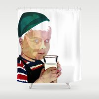 milk Shower Curtains featuring Milk by Alvaro Tapia Hidalgo