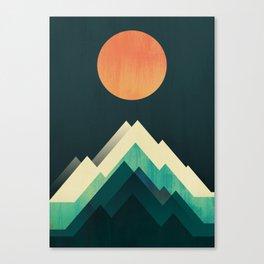 Ablaze on cold mountain Canvas Print