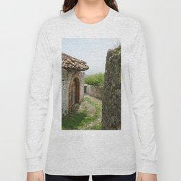 Ancient Stone Houses in Krujë, Albania Long Sleeve T-shirt