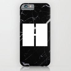 Black Marble - Alphabet H Slim Case iPhone 6s