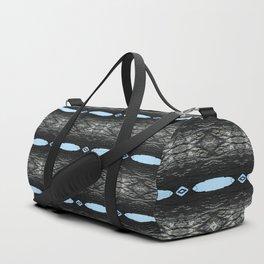 Oak Tree Blue Portal Nature Pattern by Debra Cortese Designs Duffle Bag