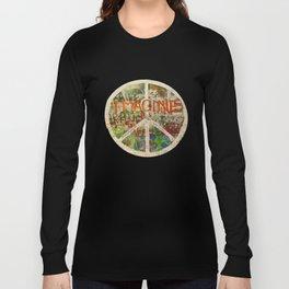 Peace Sign - Love - Graffiti Long Sleeve T-shirt