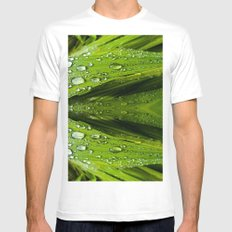 Floral Reflections in water MEDIUM White Mens Fitted Tee
