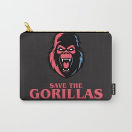 Save the Gorillas Carry-All Pouch