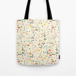 Retro Botanical Tote Bag