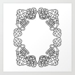 Abstract floral frame Art Print