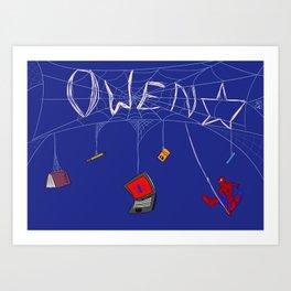 Spider-man School Goodies for Owen Art Print