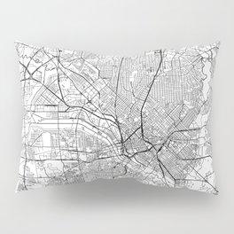 Dallas White Map Pillow Sham