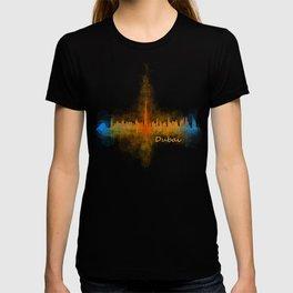 Dubai, emirates, City Cityscape Skyline watercolor art v4 T-shirt