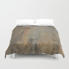 Disgusting Grungy Rusty Wounded Painted Metal Duvet Cover