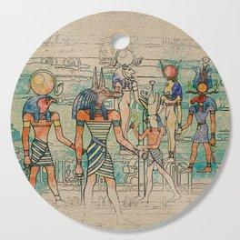 Egyptian Gods on canvas Cutting Board