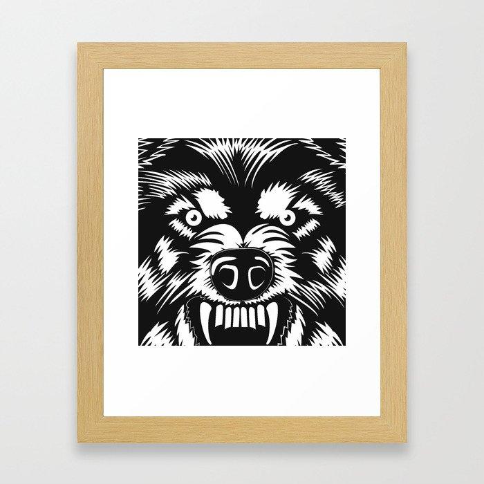 big bad wolf II Framed Art Print