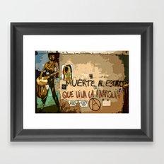 Muerte Al Estado Framed Art Print