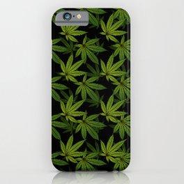 Cannabis Leaf - Black iPhone Case
