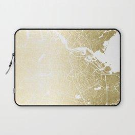 Amsterdam Gold on White Street Map Laptop Sleeve