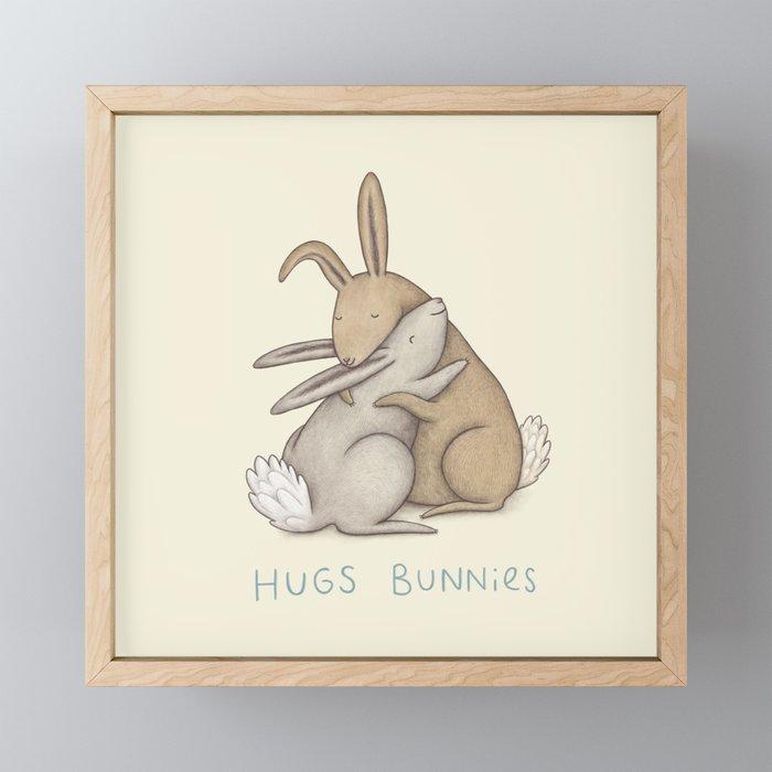 Hugs Bunnies Framed Mini Art Print